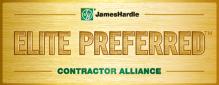 James Hardie Elite Preferred Contractor Alliance logo.