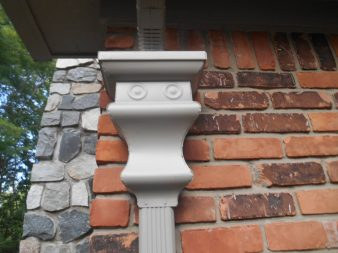 New, ornate gutter replacement