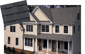 Example of Grennan Constructions Bronze level roof shingles.
