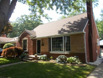 Residential roofing contractor complete new roof after photo