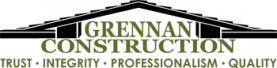 Grennan Construction Logo black and green with transparent background vector
