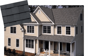 Example of Grennan Constructions Bronze level roof shingles. Residential roofing company Michigan