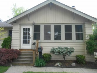 Before photo of bungalow located in Royal Oak, Michigan.