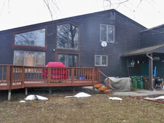 Before picture of dark grey home in Sterling Heights, Michigan