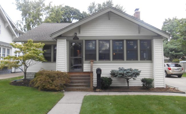 Exterior remodeling project including CertainTeed siding, and Anderson Windows. Royal Oak, Michigan.
