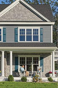 CertainTeed siding image with color selections